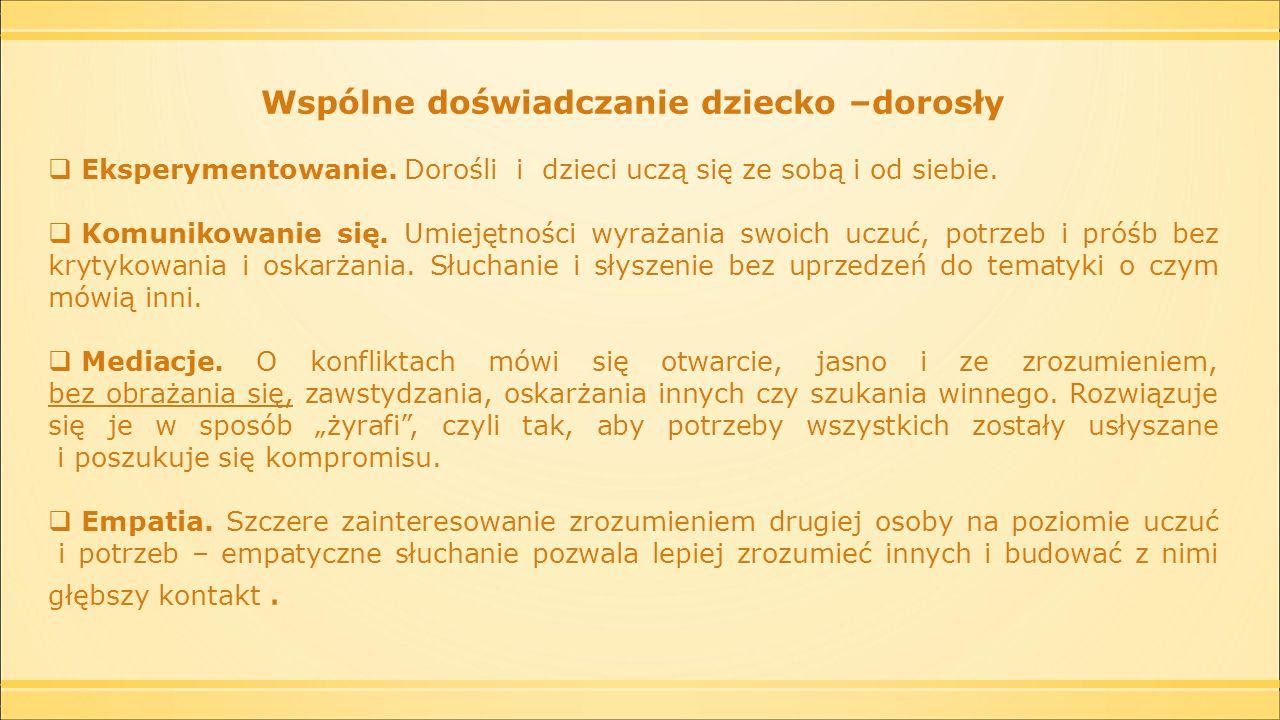 Program (Porozumienie Bez Przemocy) Sen Żyrafy pilotażowo realizowany w w 10 – wrocławskich przedszkolach.