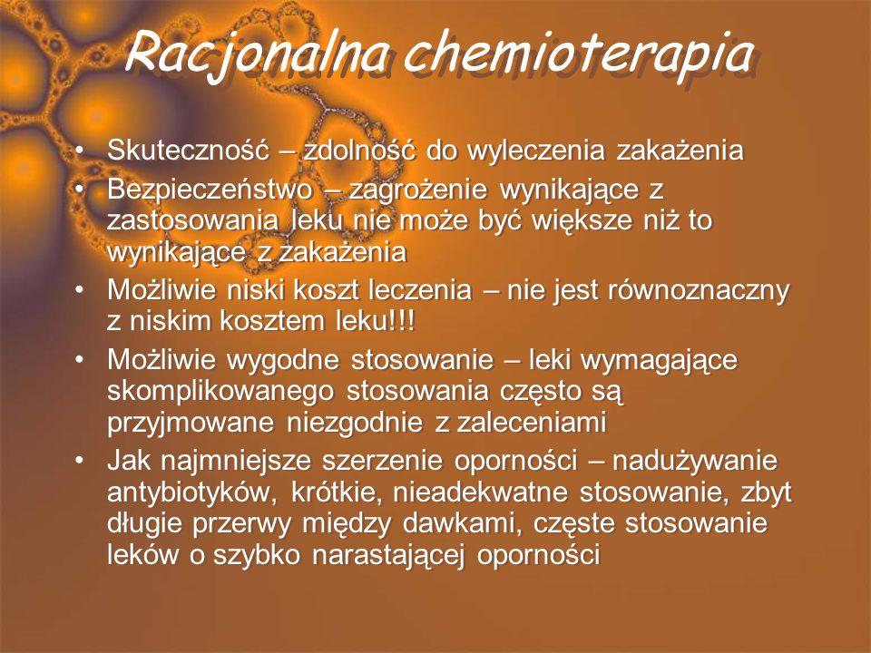 OGÓLNE ZASADY CHEMIOTERAPII