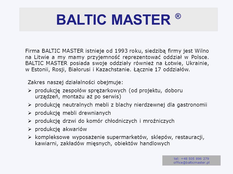 BALTIC MASTER ® Firma BALTIC MASTER istnieje od 1993 roku, siedzibą firmy jest Wilno na Litwie a my mamy przyjemność reprezentować oddział w Polsce.