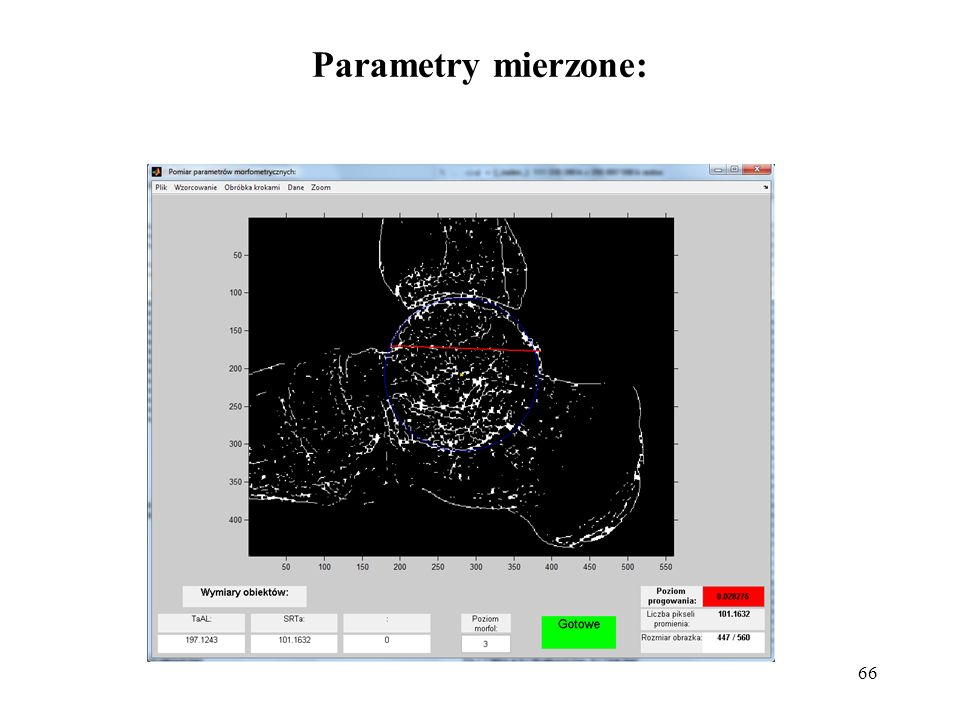 66 Parametry mierzone: