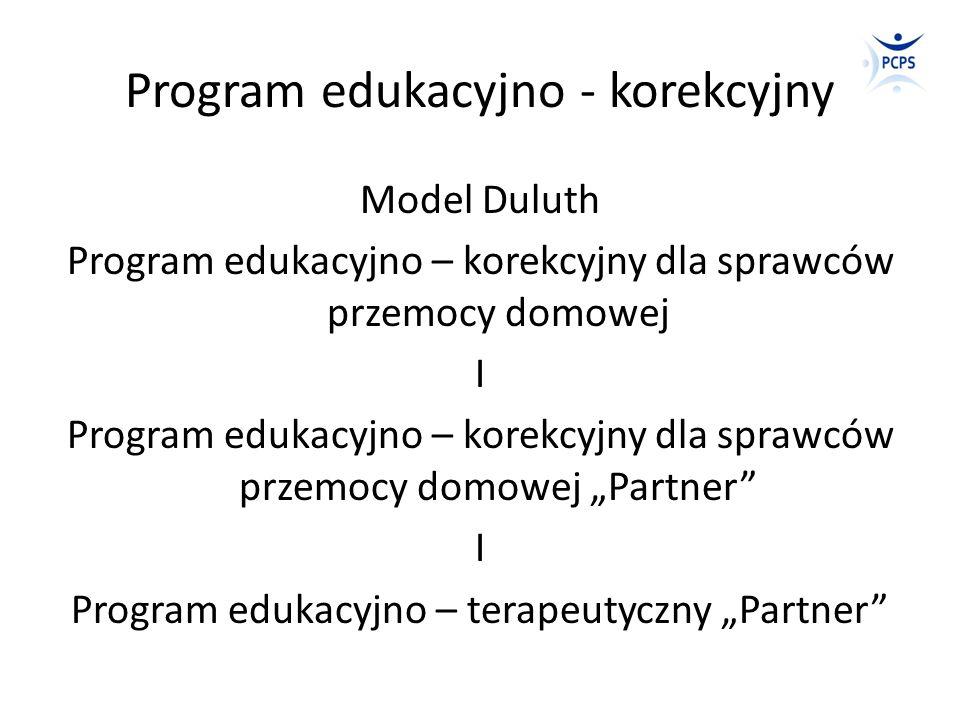 Program edukacyjno - korekcyjny Model Duluth Program edukacyjno – korekcyjny dla sprawców przemocy domowej I Program edukacyjno – korekcyjny dla spraw