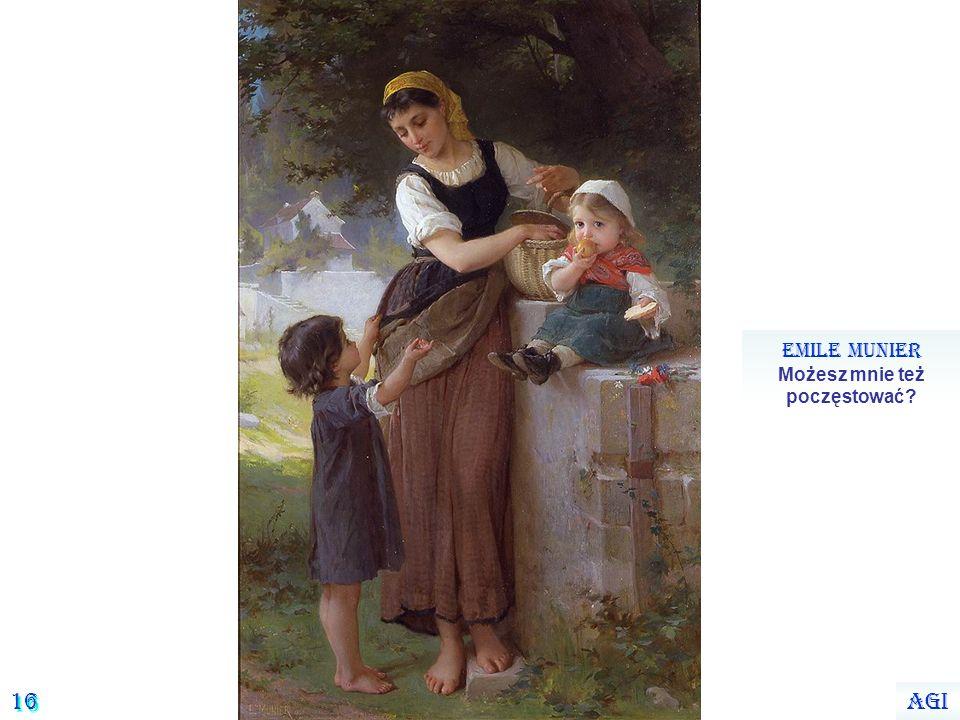 15 Emile Munier Dziewczynka z pieskiem Agi