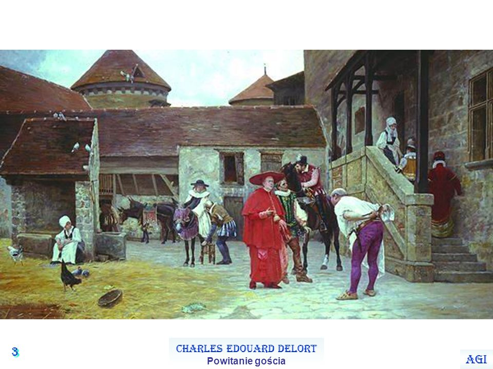 3 3 Charles Edouard Delort Powitanie gościa Agi