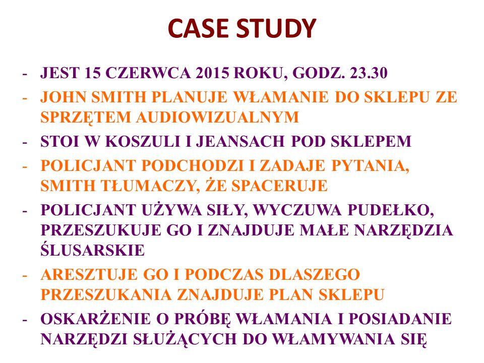 CASE STUDY -JEST 15 CZERWCA 2015 ROKU, GODZ.