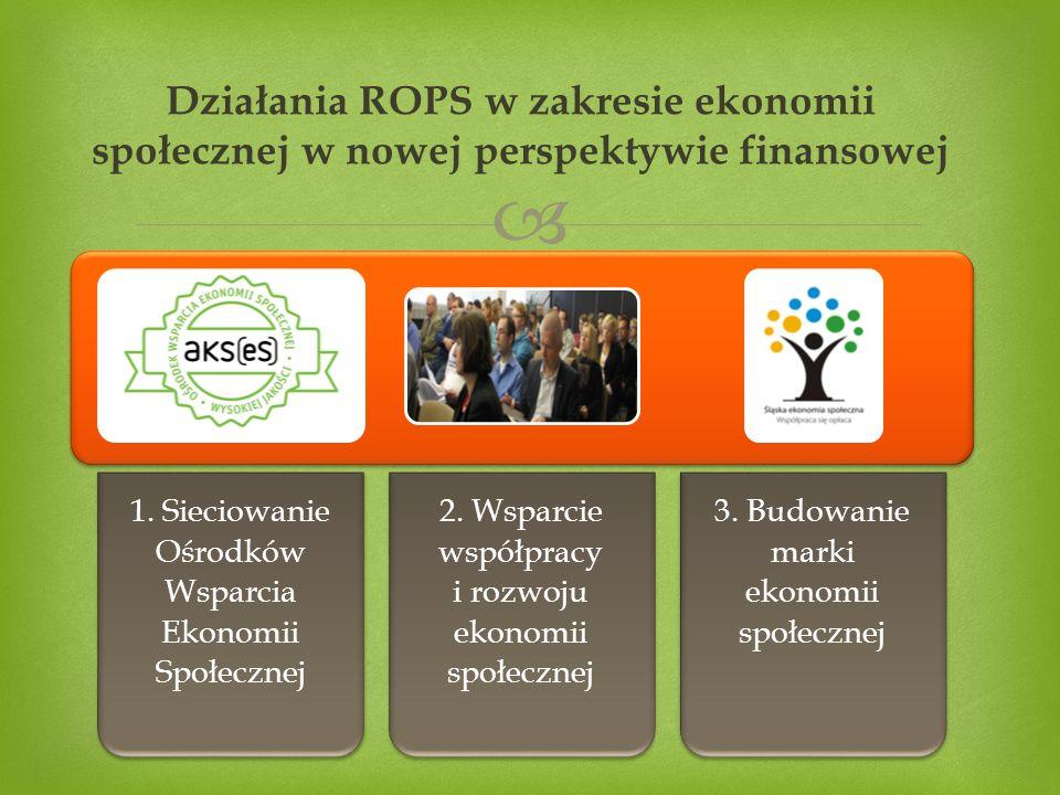  Działania ROPS w zakresie ekonomii społecznej w nowej perspektywie finansowej 1.
