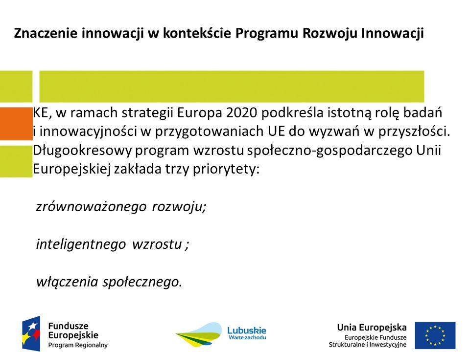 KE, w ramach strategii Europa 2020 podkreśla istotną rolę badań i innowacyjności w przygotowaniach UE do wyzwań w przyszłości.