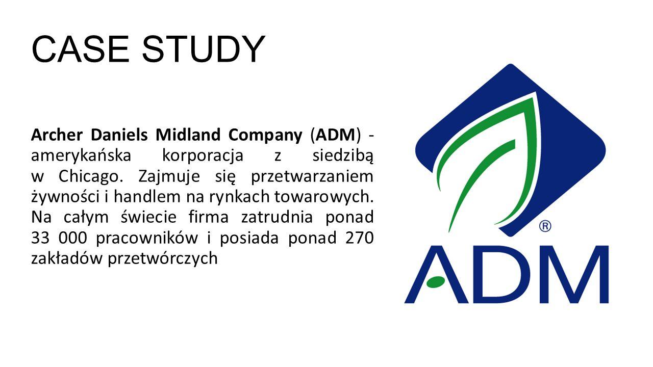 CASE STUDY Archer Daniels Midland Company (ADM) - amerykańska korporacja z siedzibą w Chicago.