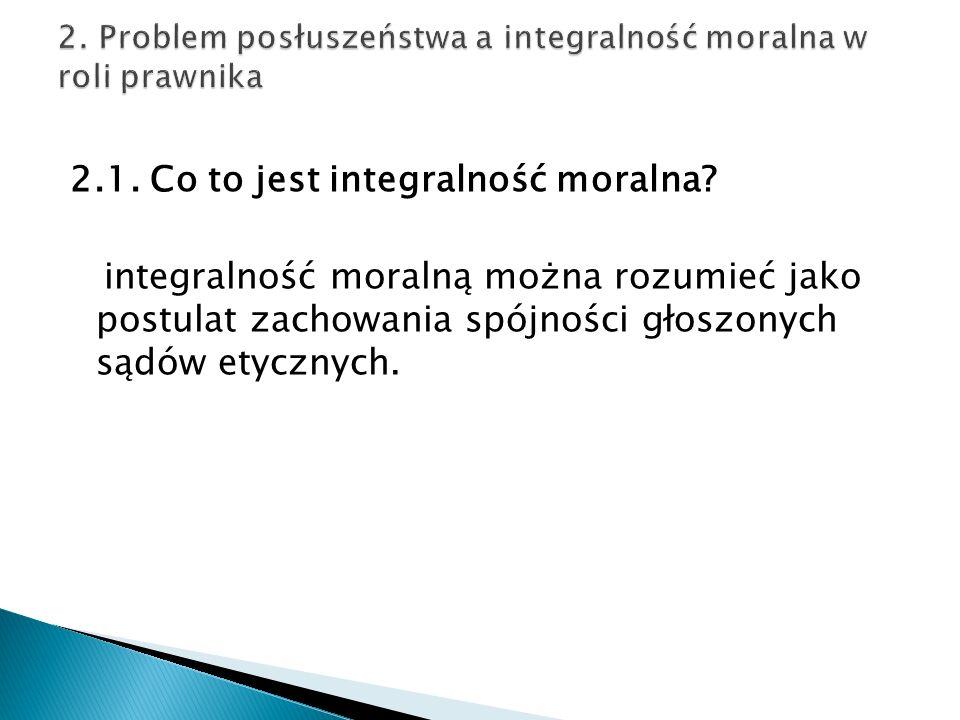 2.1. Co to jest integralność moralna.