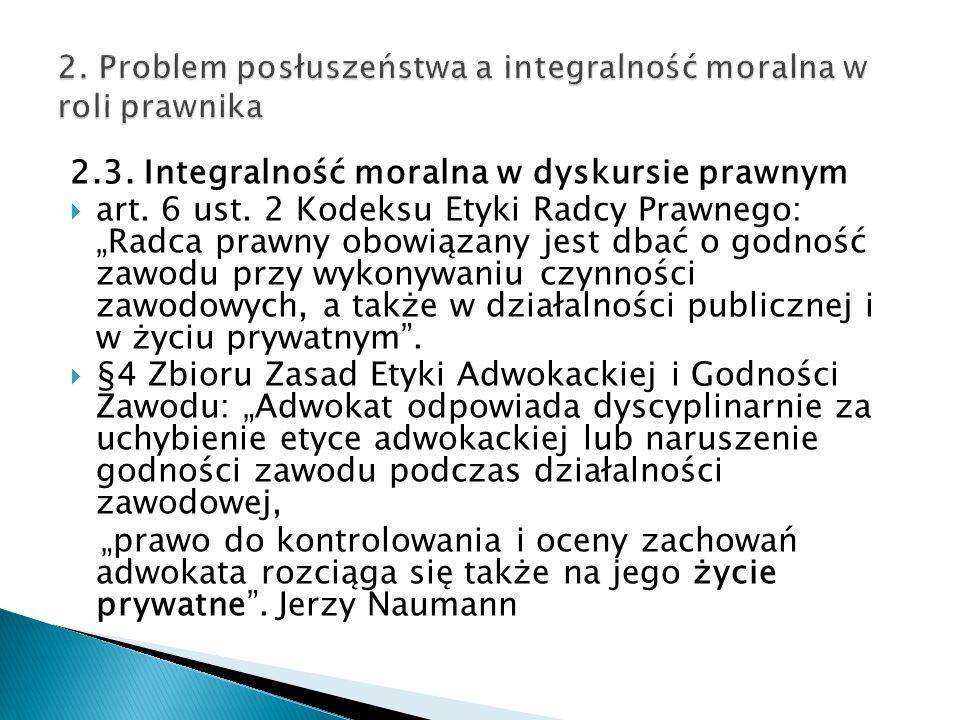 2.3. Integralność moralna w dyskursie prawnym  art.