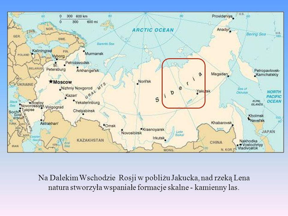Na Dalekim Wschodzie Rosji w pobliżu Jakucka, nad rzeką Lena natura stworzyła wspaniałe formacje skalne - kamienny las.