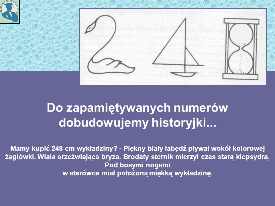 Do zapamiętywanych numerów dobudowujemy historyjki...
