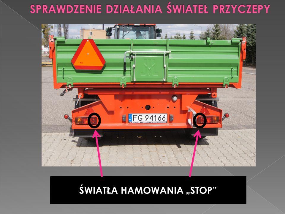 """ŚWIATŁA HAMOWANIA """"STOP"""