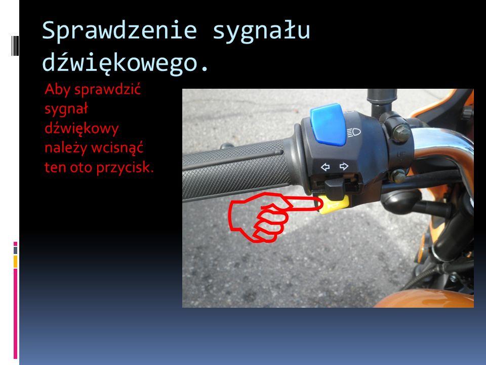 Sprawdzenie sygnału dźwiękowego. Aby sprawdzić sygnał dźwiękowy należy wcisnąć ten oto przycisk.