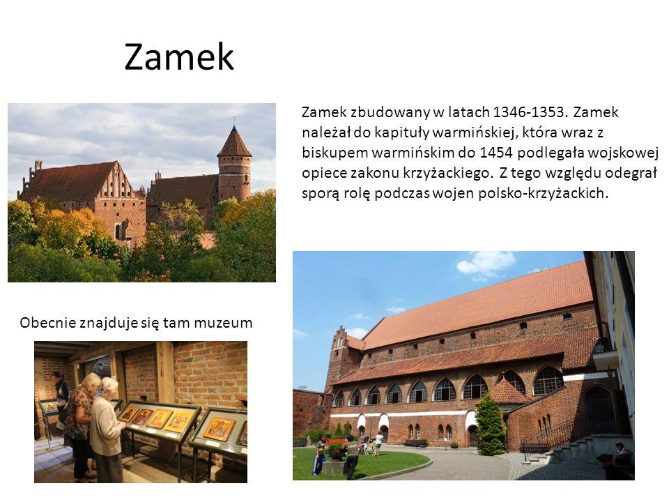 Zamek Zamek zbudowany w latach 1346-1353.
