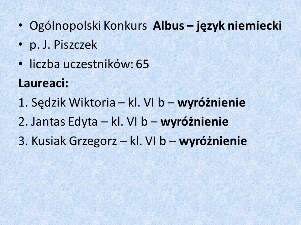 Ogólnopolski Konkurs Albus – język niemiecki p. J.