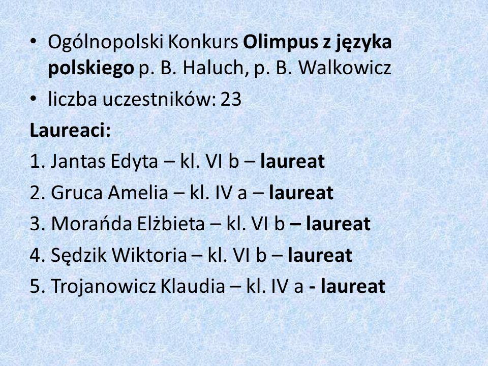 Ogólnopolski Konkurs Olimpus z języka polskiego p.