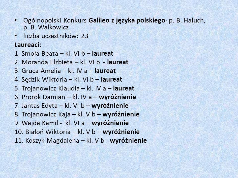Ogólnopolski Konkurs Galileo z języka polskiego- p.