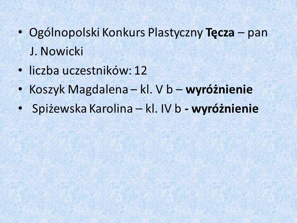 Ogólnopolski Konkurs Plastyczny Tęcza – pan J.