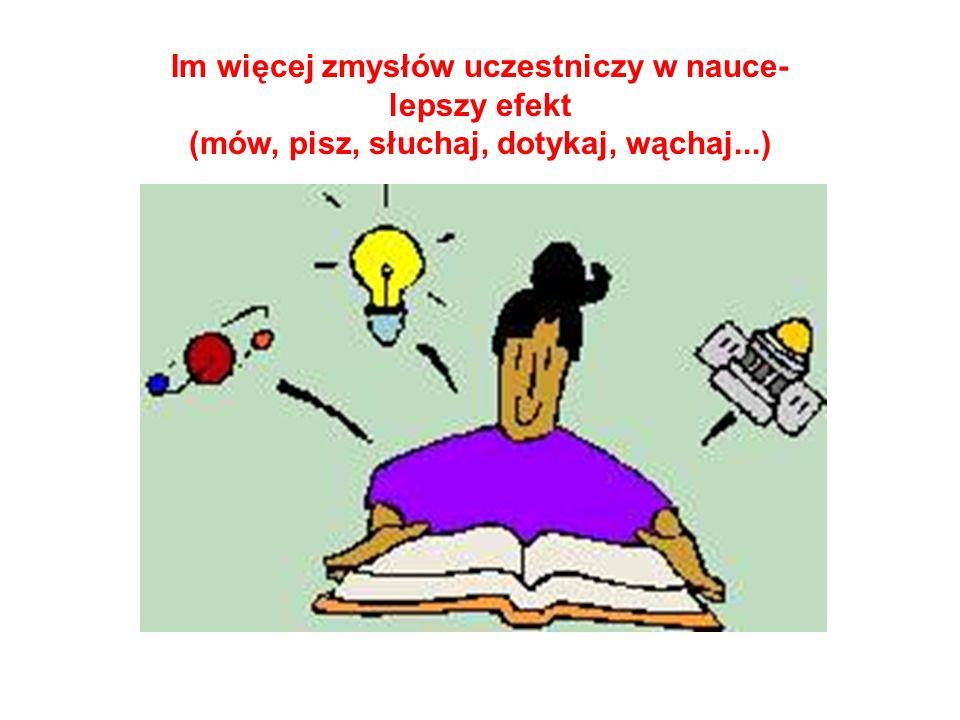 Umiejętności Poznawcze Percepcja Myślenie Wyobraźnia Umiejętności zmysłowe Umiejętności intelektualne Umiejętności kreatywne …rozwijając umiejętności,