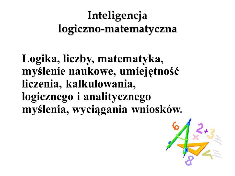 Inteligencja muzyczna Muzyka, rytm, dźwięk, melodia, wrażliwość na dźwięk, poczucie rytmu.