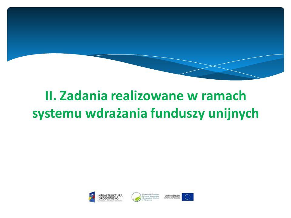 II. Zadania realizowane w ramach systemu wdrażania funduszy unijnych