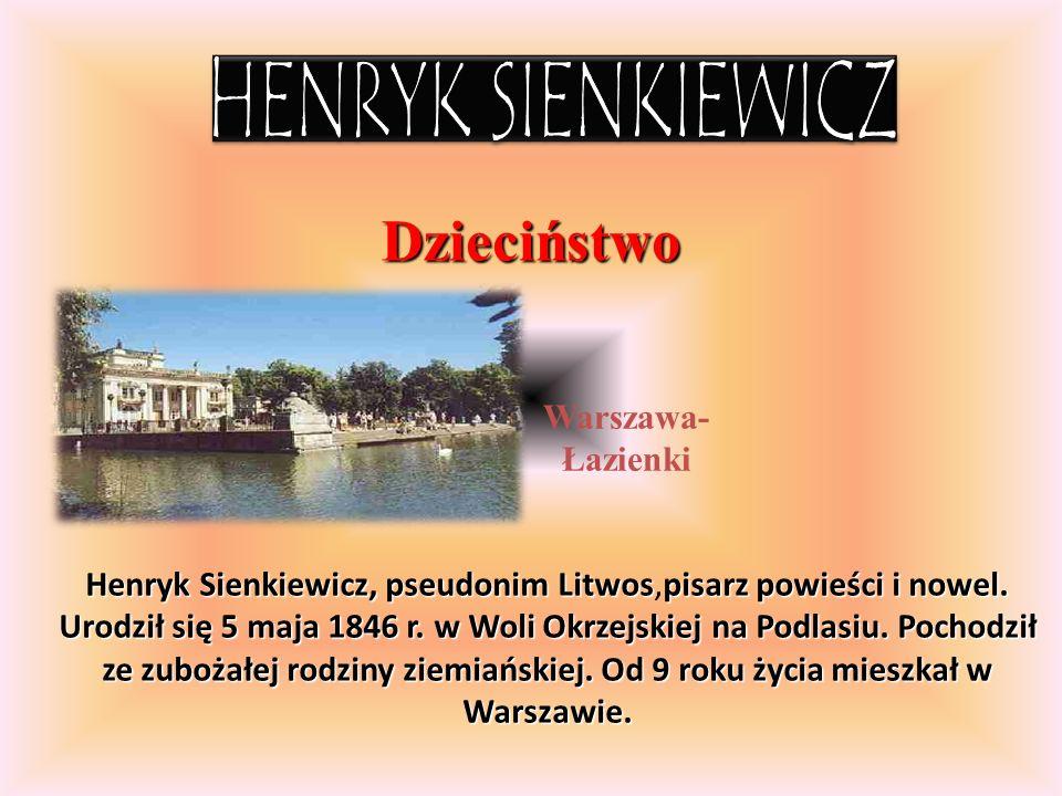 Studia Gmach Uniwers ytetu Warsza wskiego W latach 1866-1869 studiował prawo na Uniwersytecie Warszawskim, a do 1871 roku uczył się także w Szkole Głównej na Wydziale Filologiczno-Historycznym.