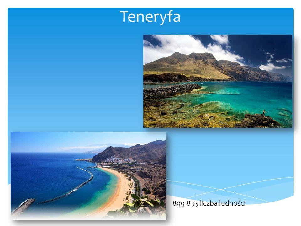 Teneryfa 899 833 liczba ludności