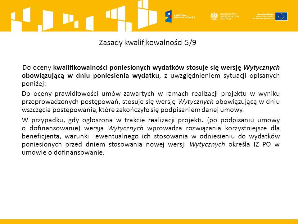 Wydatki niekwalifikowalne 4/6 l) zakup lokali mieszkalnych, za wyjątkiem wydatków dokonanych w ramach celu tematycznego 9 Promowanie włączenia społecznego, walka z ubóstwem i wszelką dyskryminacją, poniesionych zgodnie z przyjętymi przez MIR Wytycznymi w zakresie zasad realizacji przedsięwzięć w obszarze włączenia społecznego i zwalczania ubóstwa z wykorzystaniem środków Europejskiego Funduszu Społecznego i Europejskiego Funduszu Rozwoju Regionalnego na lata 2014-2020, m) inne niż część kapitałowa raty leasingowej wydatki związane z umową leasingu, n) transakcje dokonane w gotówce, (w części bądź w całości) w których wartość przekracza równowartość 15 000 euro przeliczonych na PLN według średniego kursu walut obcych ogłaszanego przez Narodowy Bank Polski ostatniego dnia miesiąca poprzedzającego miesiąc, w którym dokonano transakcji - bez względu na liczbę wynikających z danej transakcji płatności, zgodnie z art.