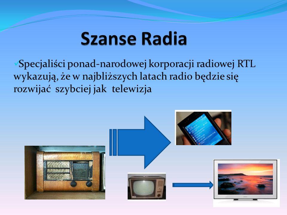 Specjaliści ponad-narodowej korporacji radiowej RTL wykazują, że w najbliższych latach radio będzie się rozwijać szybciej jak telewizja