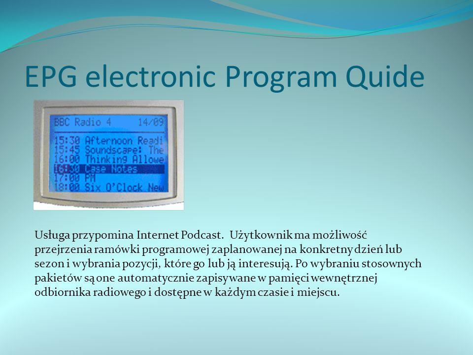 EPG electronic Program Quide Usługa przypomina Internet Podcast.