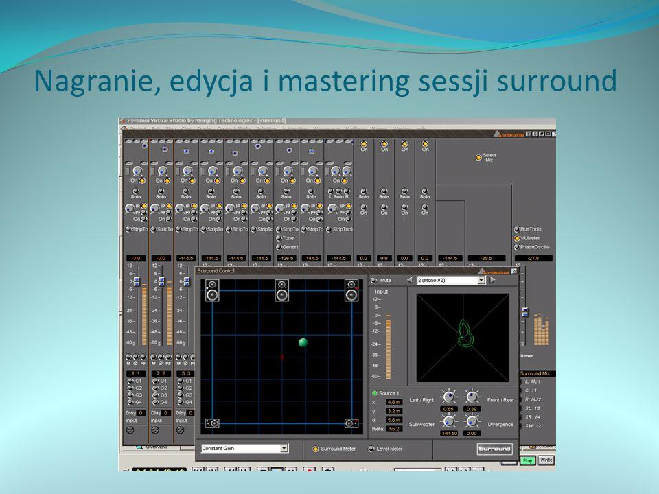 Nagranie, edycja i mastering sessji surround