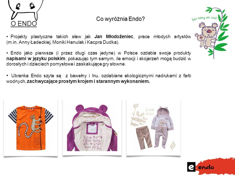 Co wyróżnia Endo? Co wyróżnia Endo? 3 Projekty plastyczne takich sław jak Jan Młodożeniec, prace młodych artystów (m.in. Anny Ładeckiej, Moniki Hanula