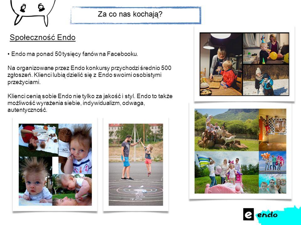 Endo ma ponad 50 tysięcy fanów na Facebooku. Na organizowane przez Endo konkursy przychodzi średnio 500 zgłoszeń. Klienci lubią dzielić się z Endo swo