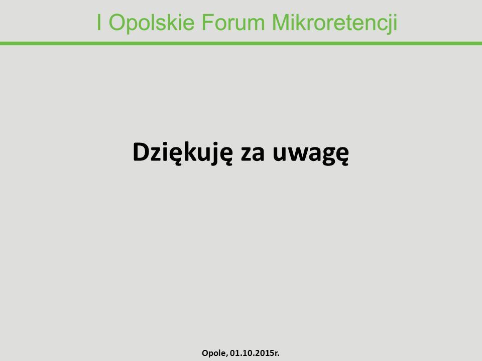 Dziękuję za uwagę Opole, 01.10.2015r.