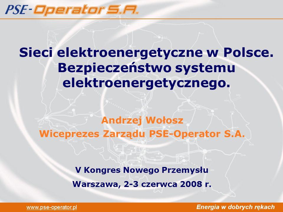 Andrzej Wołosz Wiceprezes Zarządu PSE-Operator S.A.