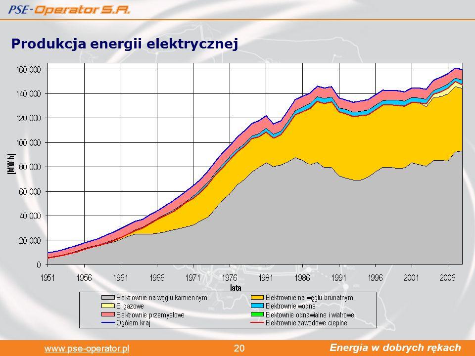 Energia w dobrych rękach www.pse-operator.pl20 Produkcja energii elektrycznej