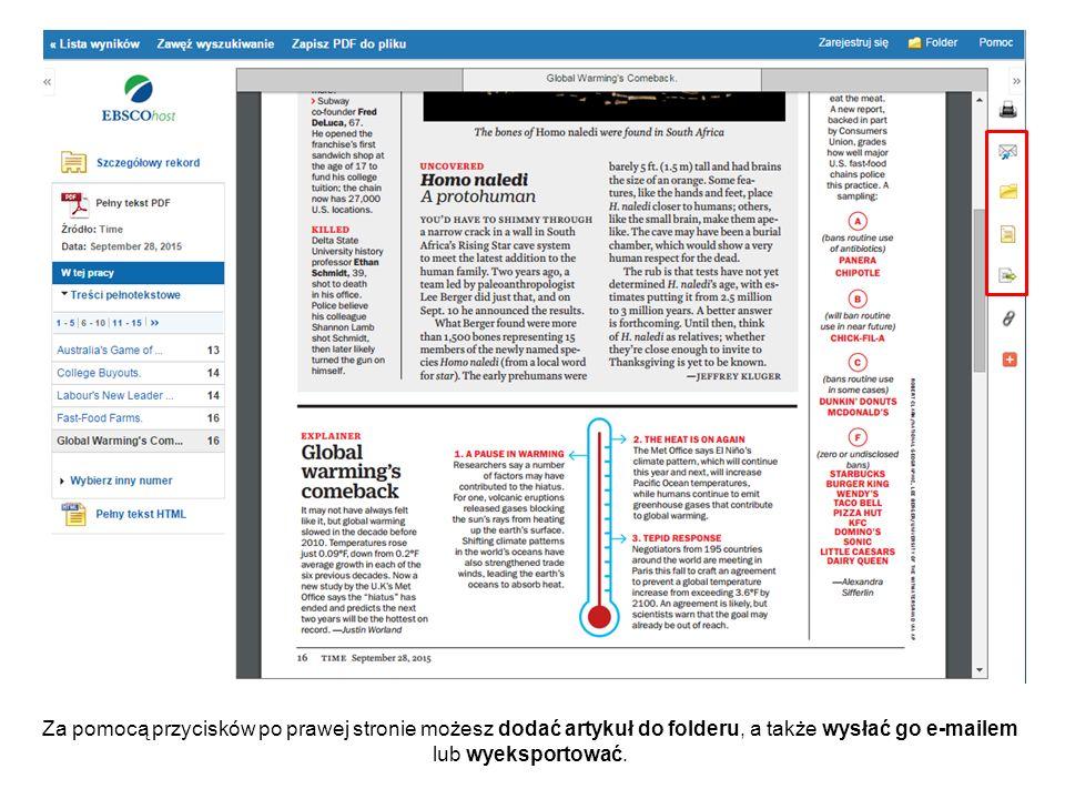 Kiedy pojawi się pasek narzędzi Adobe Reader, możesz wydrukować dokument PDF lub zapisać go na swoim komputerze.