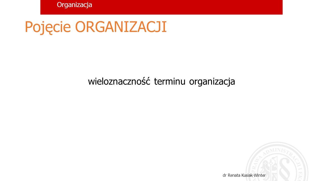 Organizacja ORGANIZACJA ujęciaznaczenia rzeczowerezultatowe atrybutowerezultatowe czynnościowe