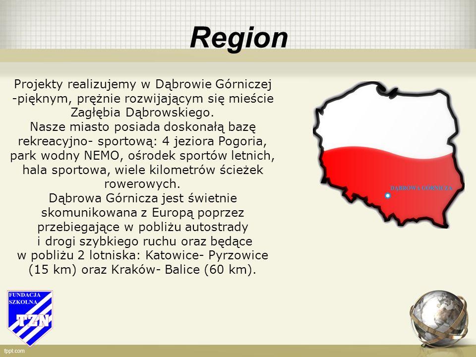 Region Projekty realizujemy w Dąbrowie Górniczej -pięknym, prężnie rozwijającym się mieście Zagłębia Dąbrowskiego.