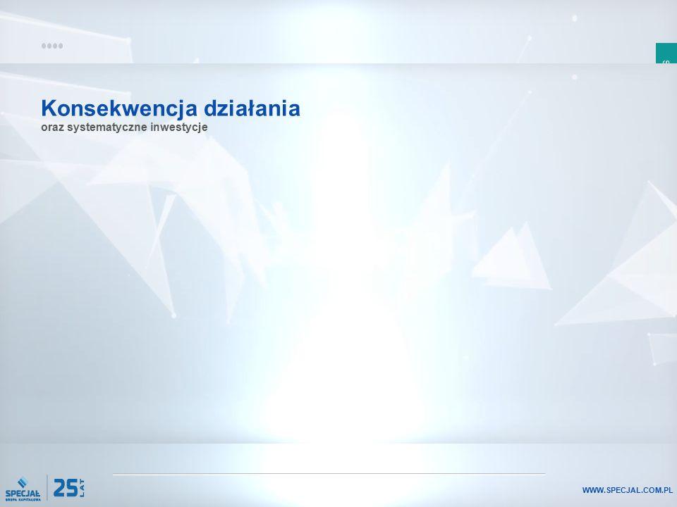 SLAJD 7 WWW.SPECJAL.COM.PL Konsekwencja działania oraz systematyczne inwestycje