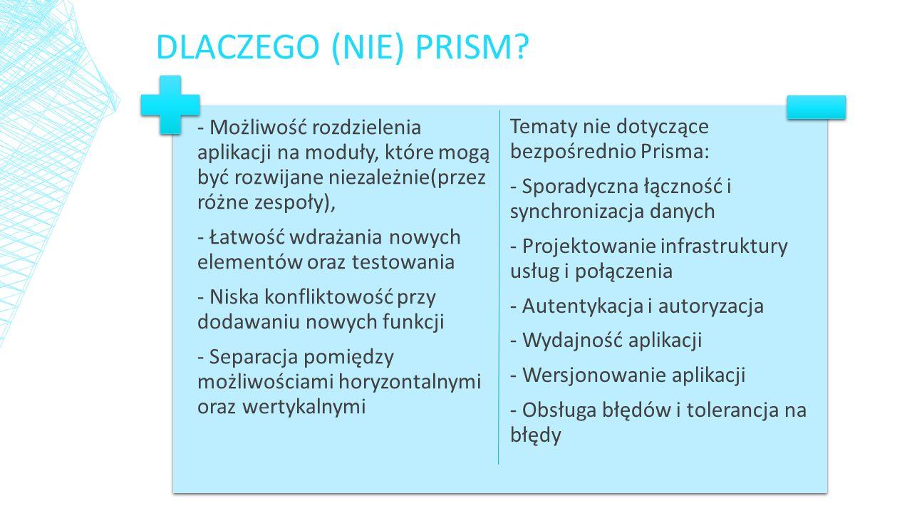 DLACZEGO (NIE) PRISM.