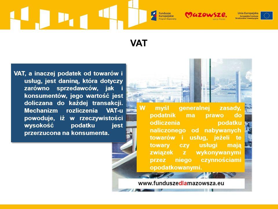 Nie/kwalifikowalność VAT – przykłady W ramach projektu gmina wybudowała park technologiczny.