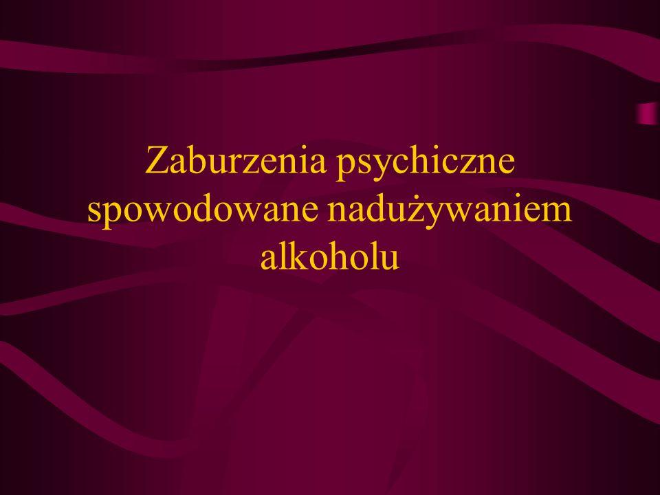 Zaburzenia psychiczne spowodowane nadużywaniem alkoholu