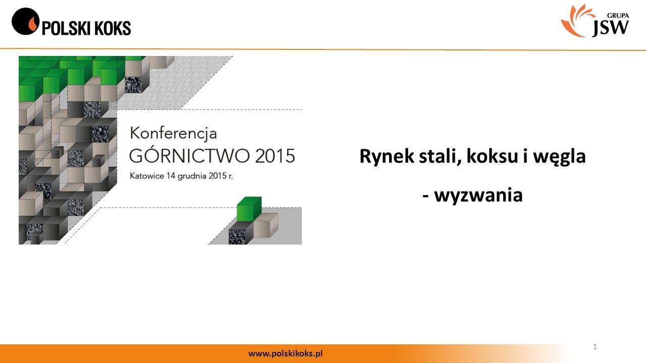 Rynek stali, koksu i węgla - wyzwania 1 www.polskikoks.pl