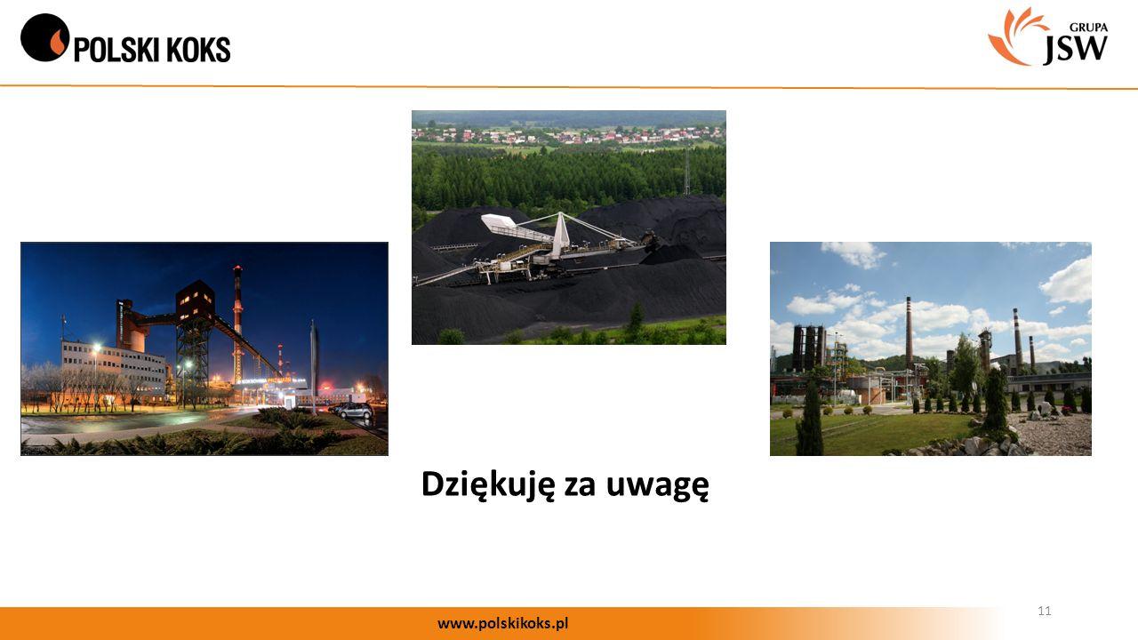 11 www.polskikoks.pl Dziękuję za uwagę