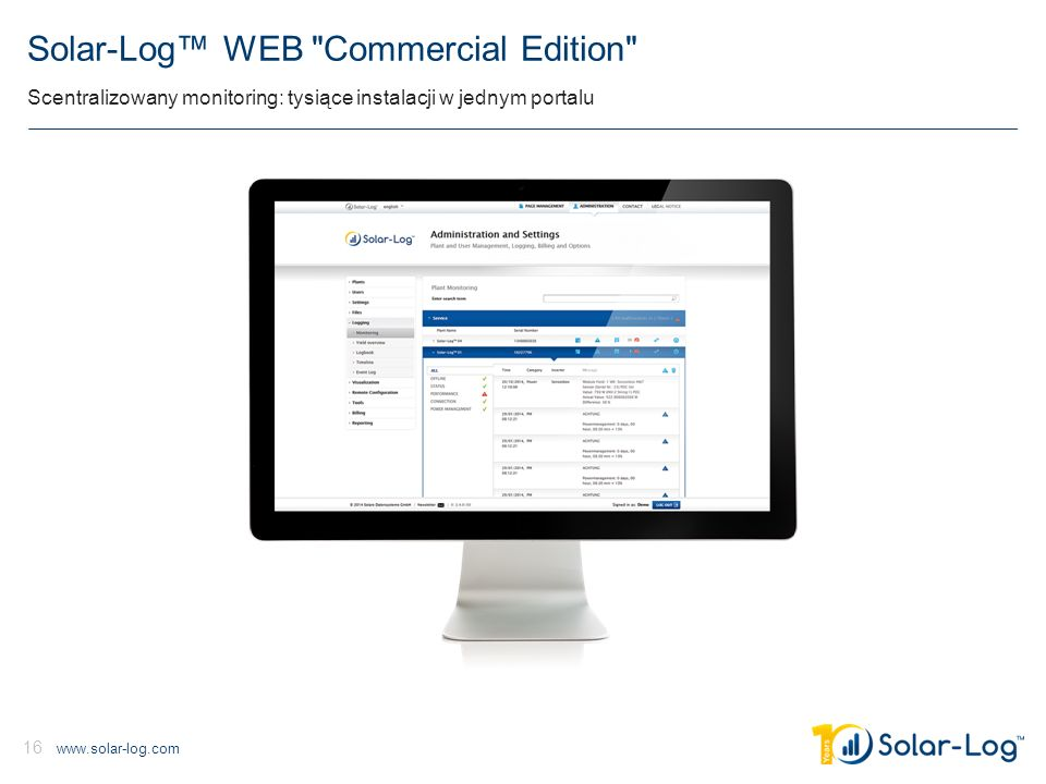 www.solar-log.com 16 Solar-Log™ WEB