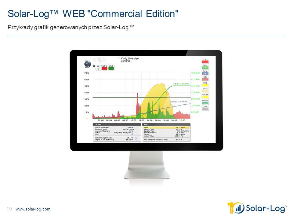 www.solar-log.com 19 Solar-Log™ WEB