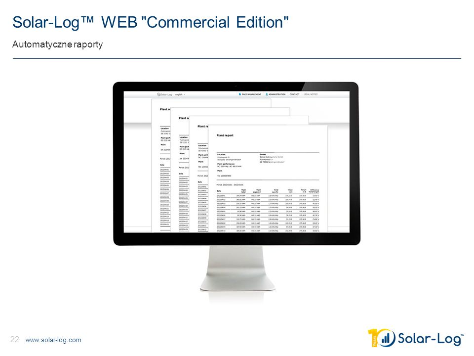 www.solar-log.com 22 Solar-Log™ WEB