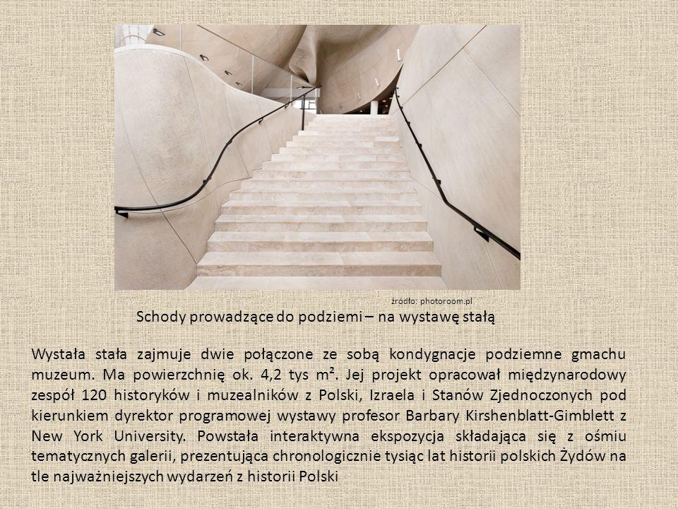 Wystała stała zajmuje dwie połączone ze sobą kondygnacje podziemne gmachu muzeum.