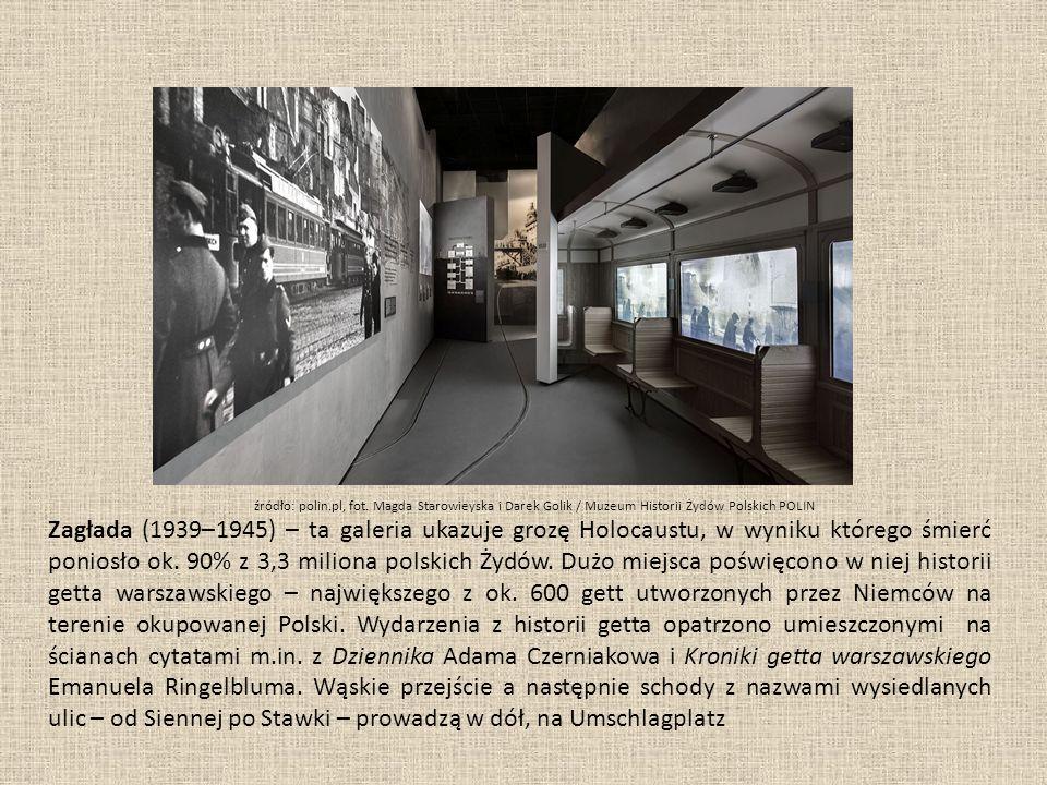 Zagłada (1939–1945) – ta galeria ukazuje grozę Holocaustu, w wyniku którego śmierć poniosło ok.